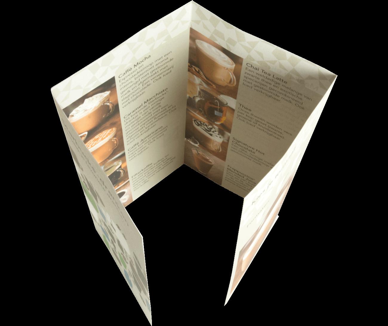 Folders 4-luik gesloten luikvouw (A4 staand)