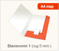 Flyersonline map - stansvorm 1 (rug 5 mm.)