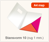 Flyersonline map - stansvorm 10 (rug 1 mm.)
