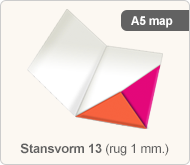 Flyersonline map - stansvorm 13 (rug 1 mm.)