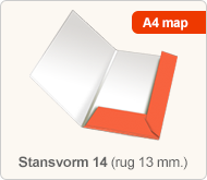 Flyersonline map - stansvorm 14 (rug 13 mm.)