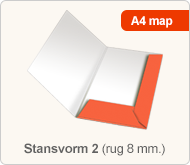 Flyersonline map - stansvorm 2 (rug 8 mm.)