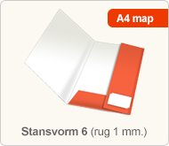 Flyersonline map - stansvorm 6 (rug 1 mm.)