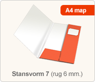 Flyersonline map - stansvorm 7 (rug 6 mm.)