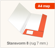 Flyersonline map - stansvorm 8 (rug 7 mm.)
