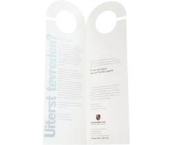 Deurhanger folder tweeluik drukken