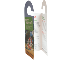 Fietsenhanger folder drieluik drukken