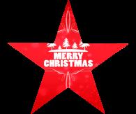 Kerstster flyers